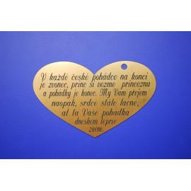 Svatební blahopřání - srdce