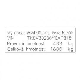 AGADOS - přívěs nákladní valníkový