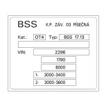 BSS 17.13 2 nápravy
